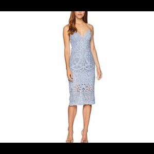 Bardot GIA blue lace dress